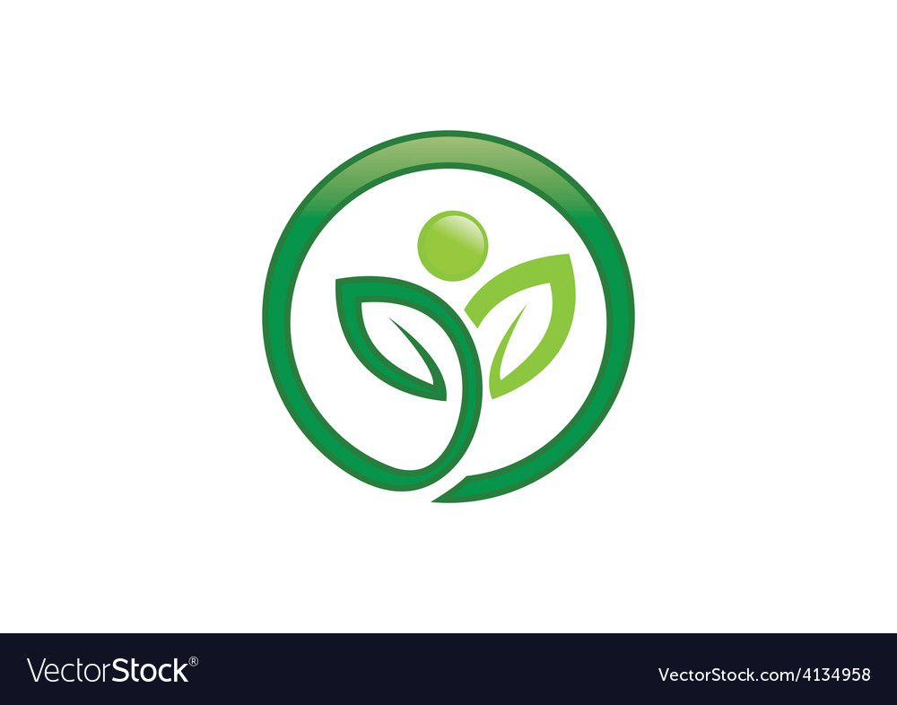 Plant leaf people ecology spa logo vector   Price: 1 Credit (USD $1)