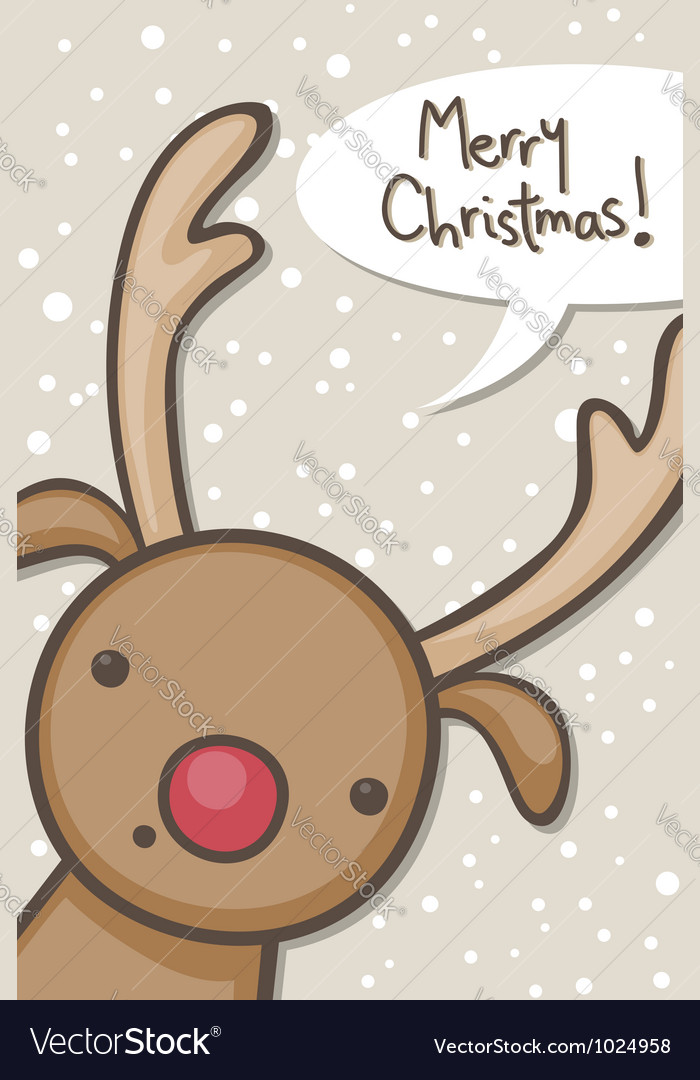 Reindeer christmas vector   Price: 1 Credit (USD $1)