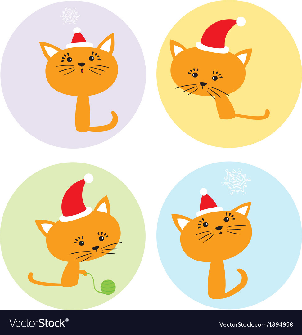 Set with kittens vector | Price: 1 Credit (USD $1)
