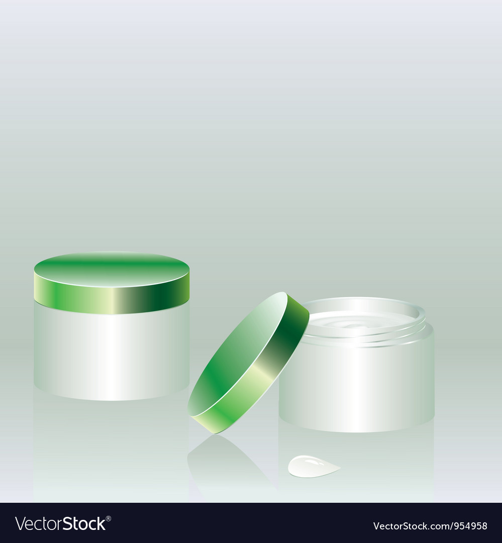 Two cans with cream vector | Price: 1 Credit (USD $1)