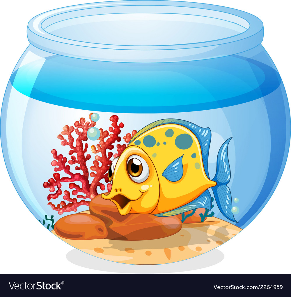 A jar with a fish vector | Price: 1 Credit (USD $1)