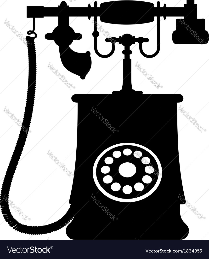 A vintage rotary dial telephone vector | Price: 1 Credit (USD $1)