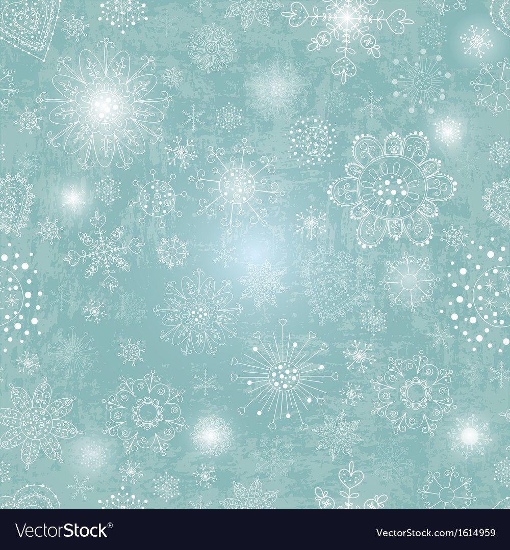 Blue background with snowflake vector | Price: 1 Credit (USD $1)