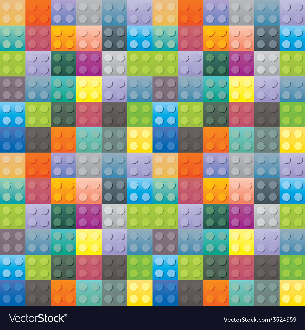 Colorful plastic brick pattern vector | Price: 1 Credit (USD $1)