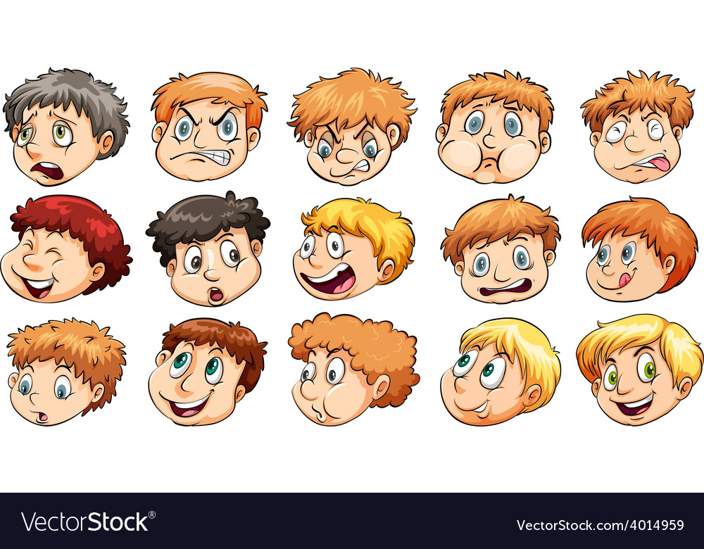 Group of heads vector | Price: 3 Credit (USD $3)