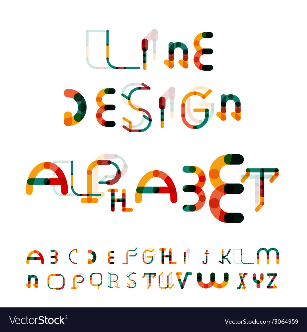 Minimal line design alphabet font typeface vector   Price: 1 Credit (USD $1)