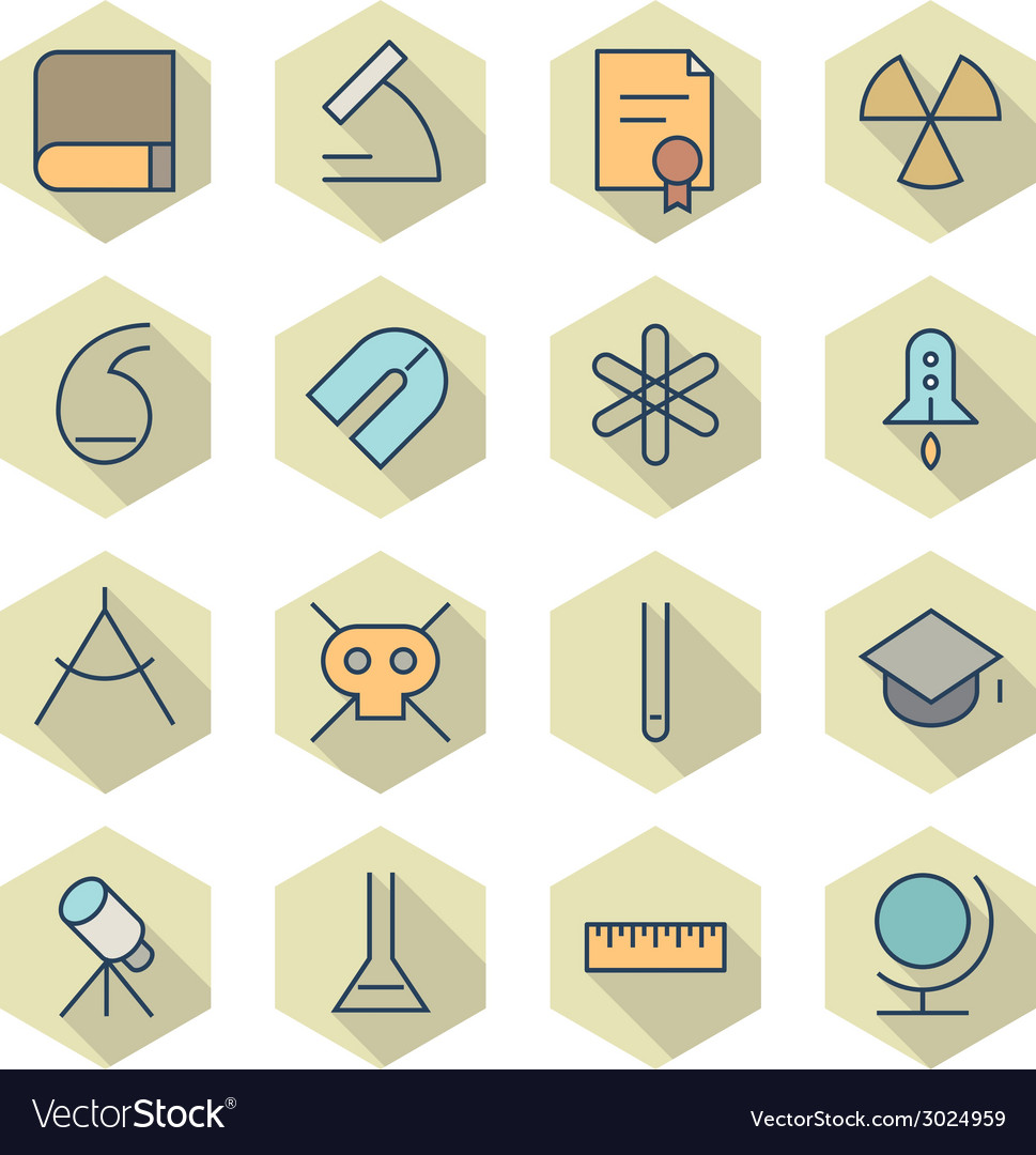 Thin line icons for science and education vector | Price: 1 Credit (USD $1)
