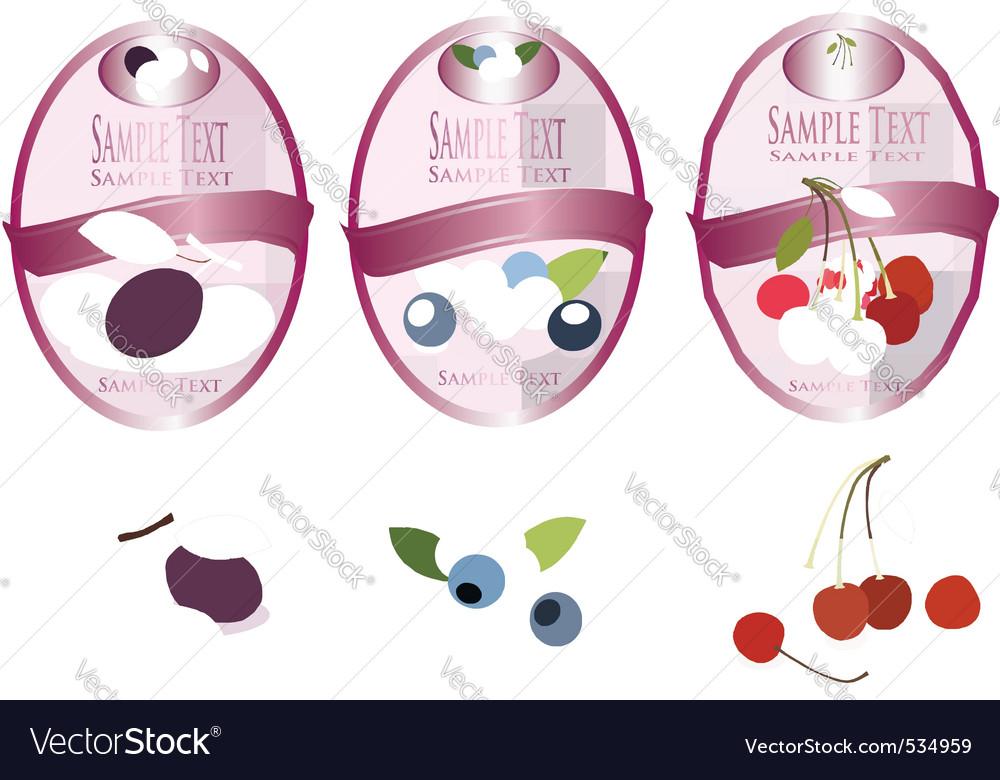 Three pink labels vector   Price: 3 Credit (USD $3)