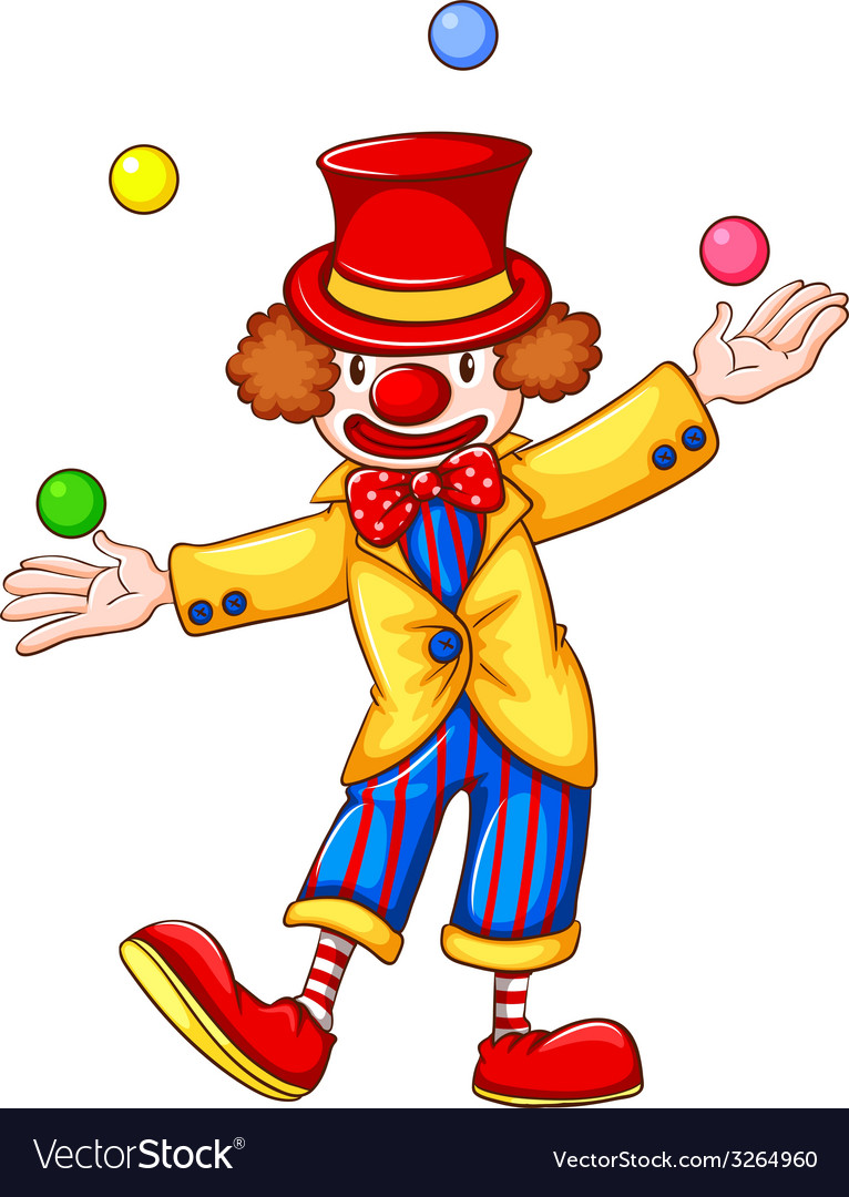 A clown juggling vector | Price: 1 Credit (USD $1)