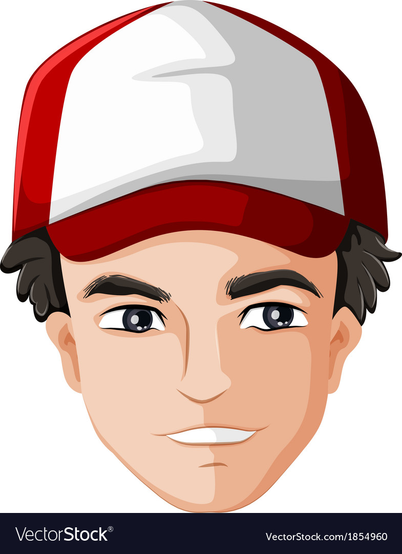 A mans head with a cap vector | Price: 1 Credit (USD $1)