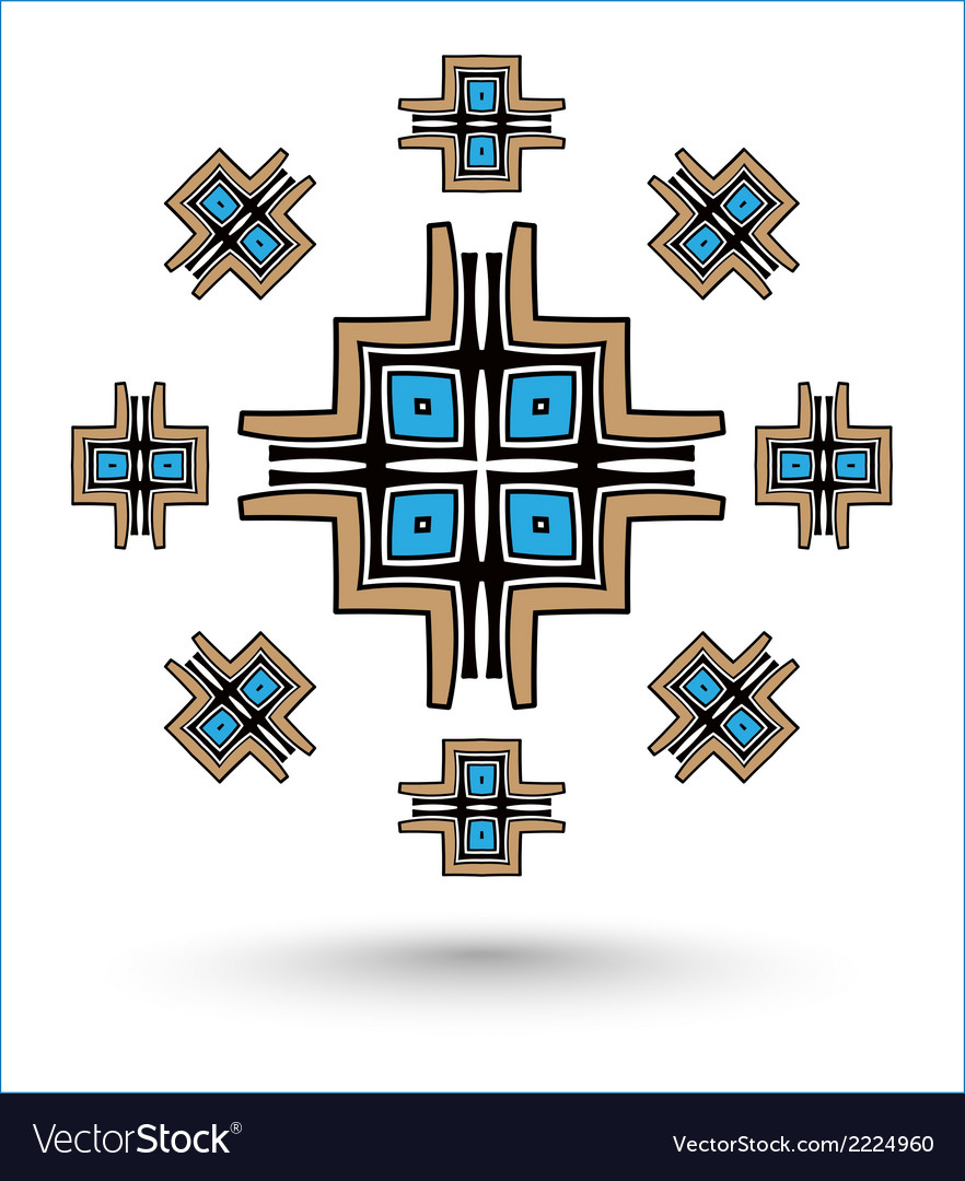 Aztec cross mandala vector | Price: 1 Credit (USD $1)
