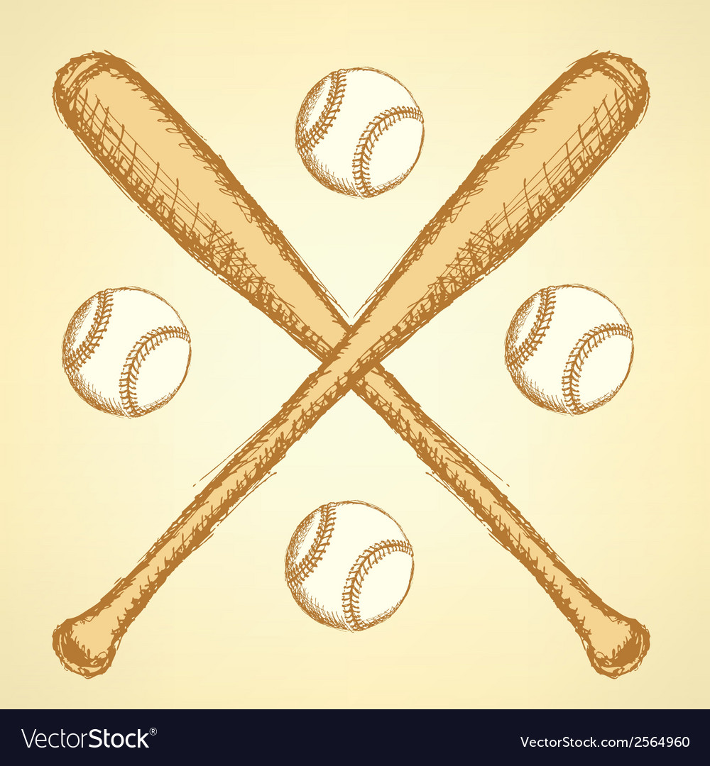 Baseball bat ball vector | Price: 1 Credit (USD $1)