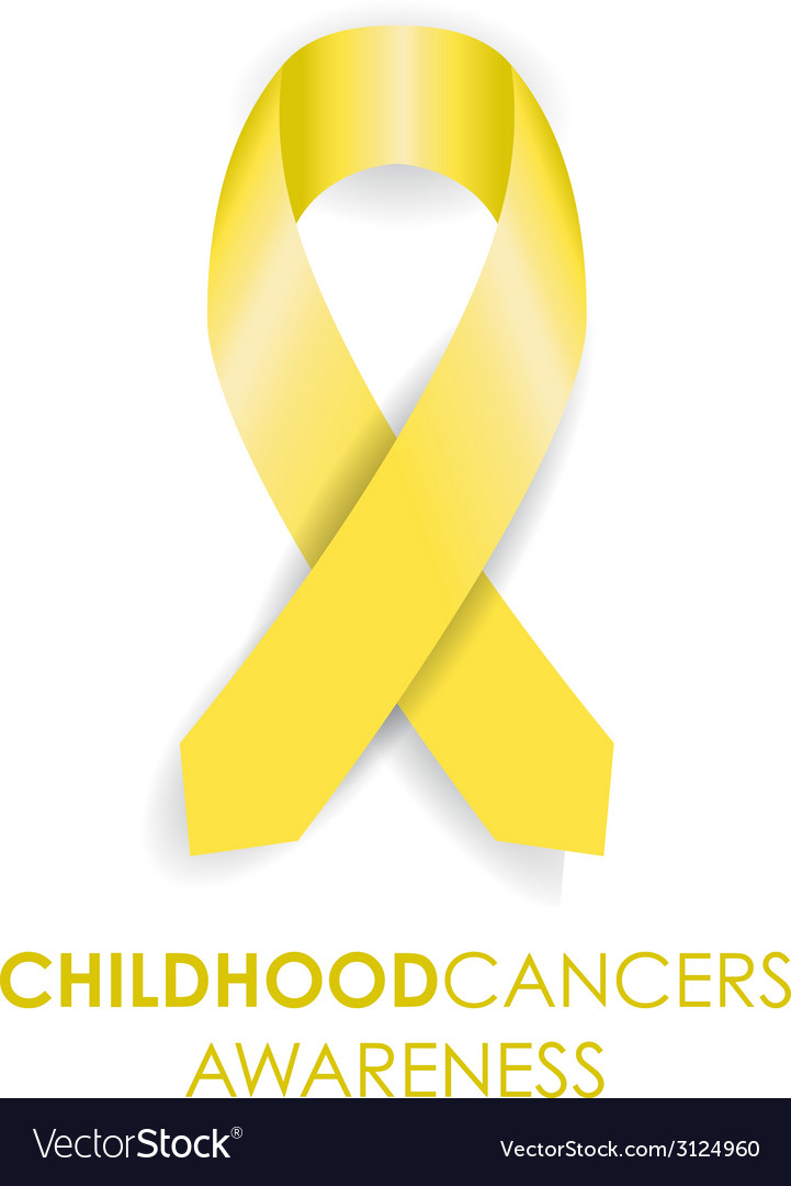Childhood cancer ribbon vector | Price: 1 Credit (USD $1)