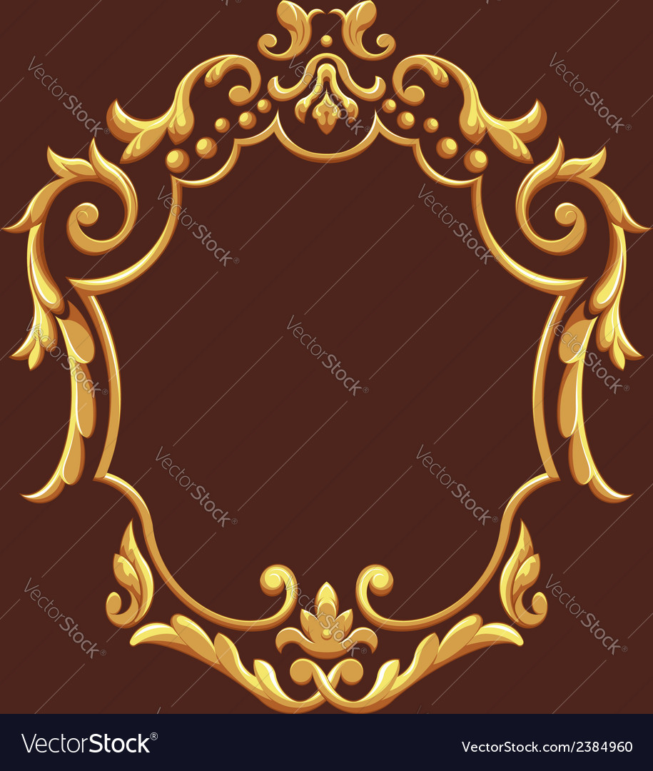 Golden royal ornament vector | Price: 1 Credit (USD $1)