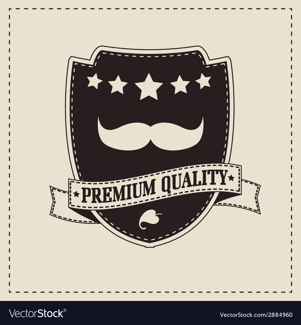 Hipster retro mustache vector | Price: 1 Credit (USD $1)