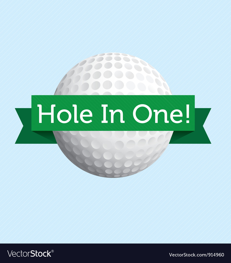 Hole in one vector | Price: 1 Credit (USD $1)