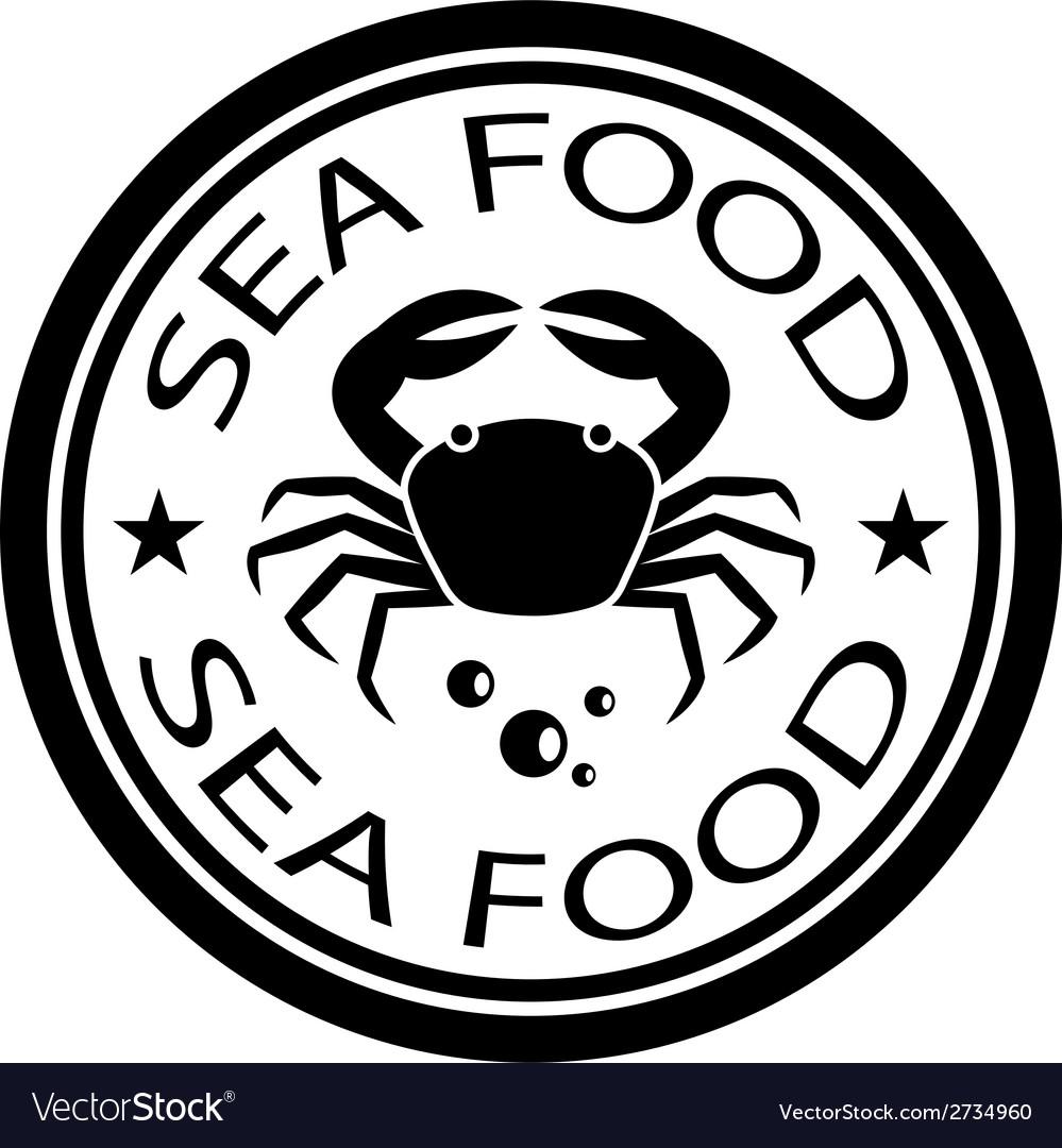 Sea food crab stamp vector | Price: 1 Credit (USD $1)