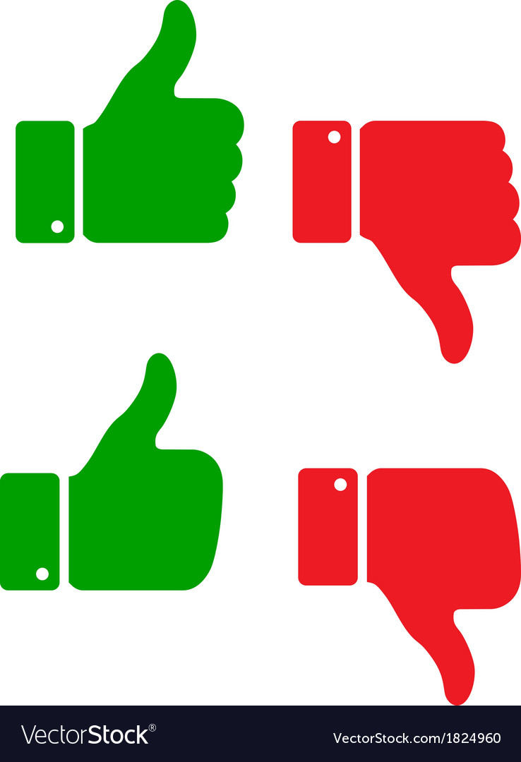 Set of thumb up icons vector | Price: 1 Credit (USD $1)