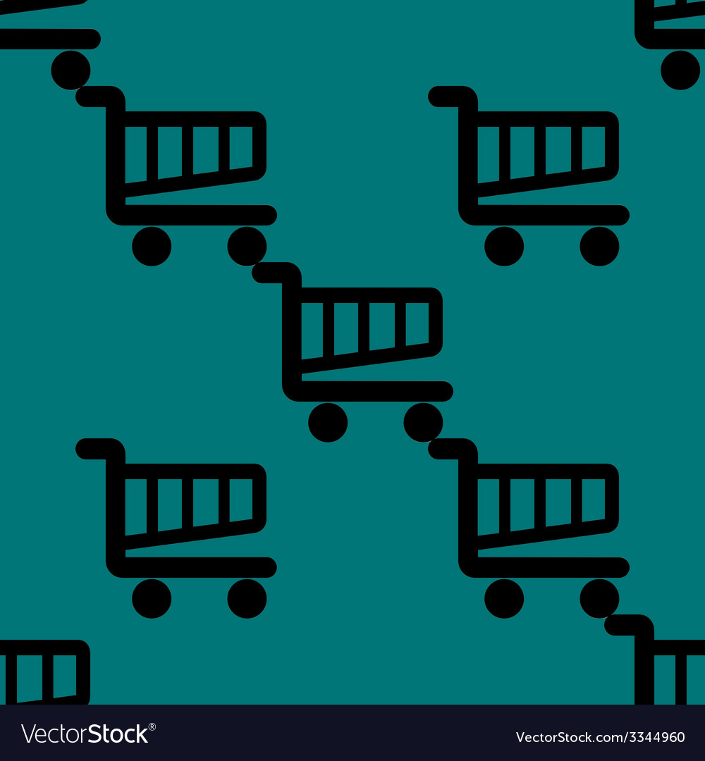 Shopping basket web icon flat design seamless vector | Price: 1 Credit (USD $1)