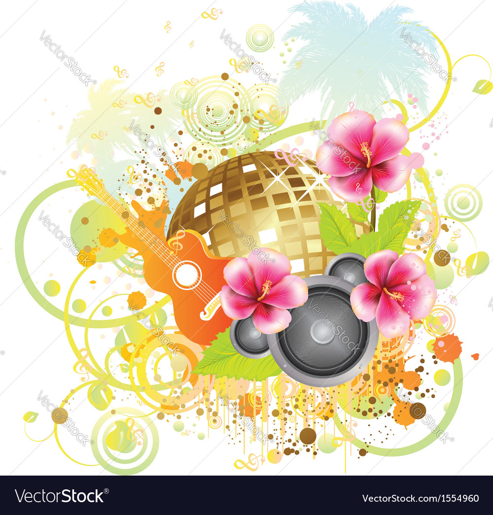 Tropical party poster2 vector | Price: 1 Credit (USD $1)