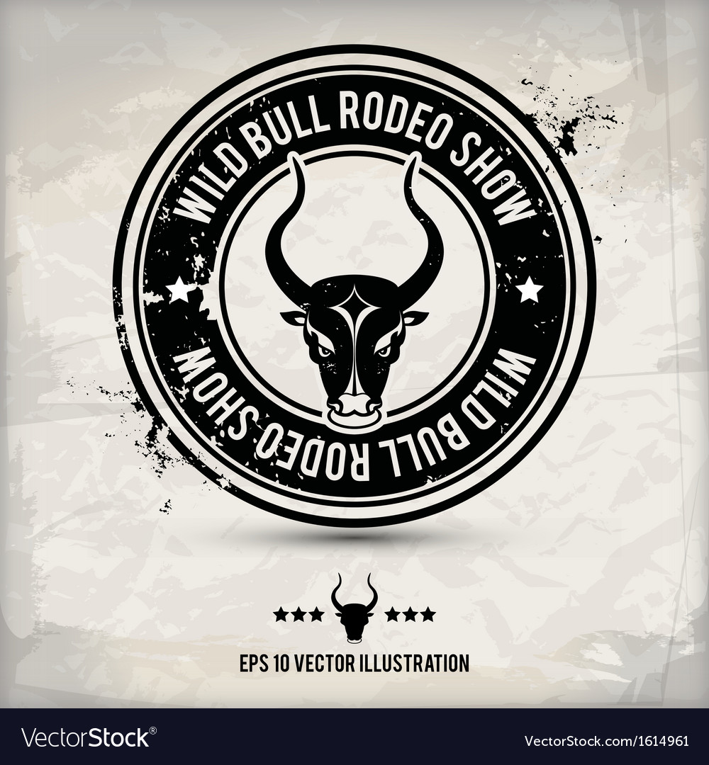 Alternative bull stamp vector | Price: 1 Credit (USD $1)