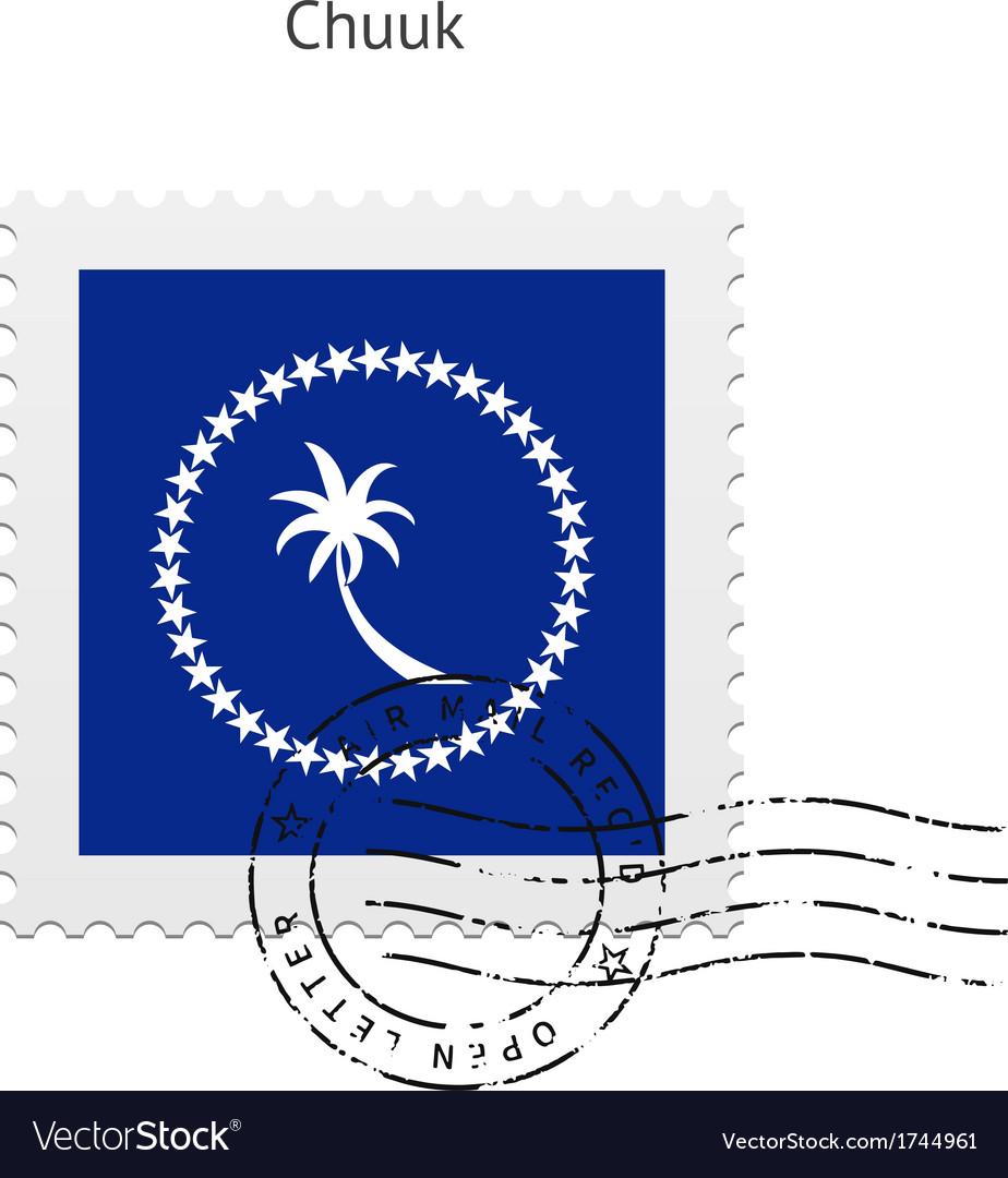 Chuuk flag postage stamp vector   Price: 1 Credit (USD $1)