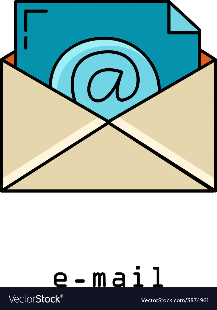 Concept representing email envelope vector | Price: 1 Credit (USD $1)