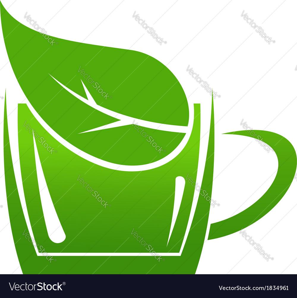 Cup of green bio beverage vector | Price: 1 Credit (USD $1)
