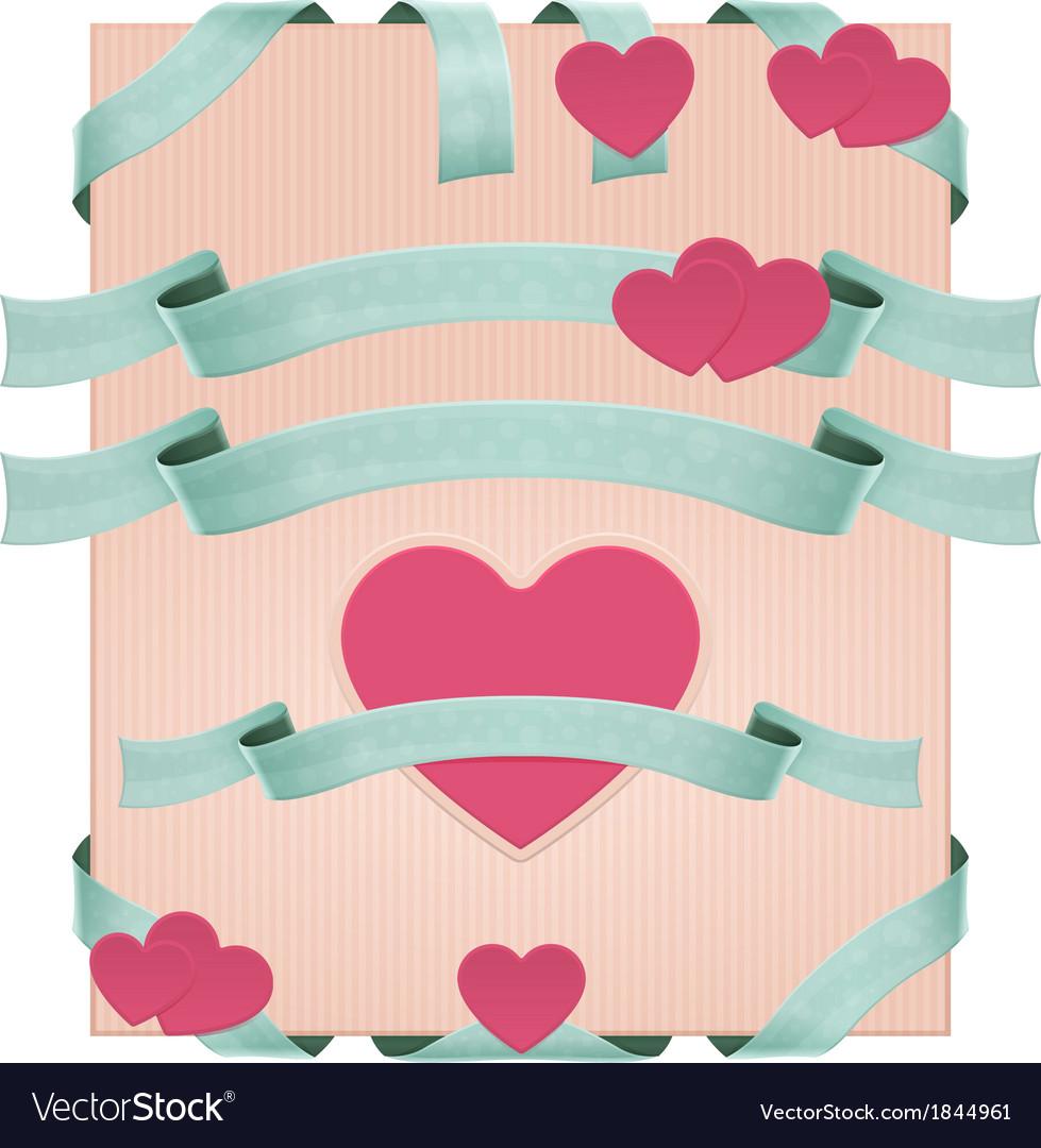 Decorative ribbons vector   Price: 1 Credit (USD $1)