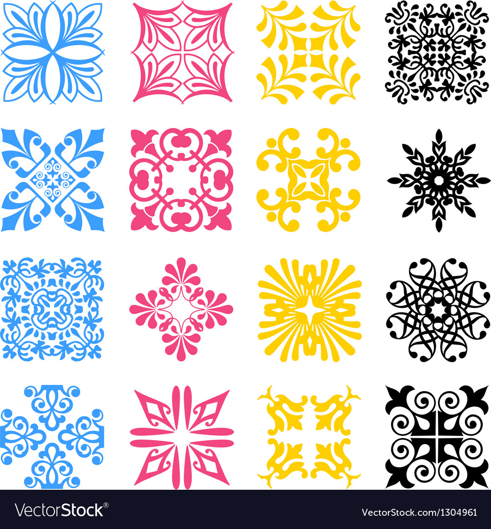 Diverse styles of bamboo symbol sets vector | Price: 1 Credit (USD $1)