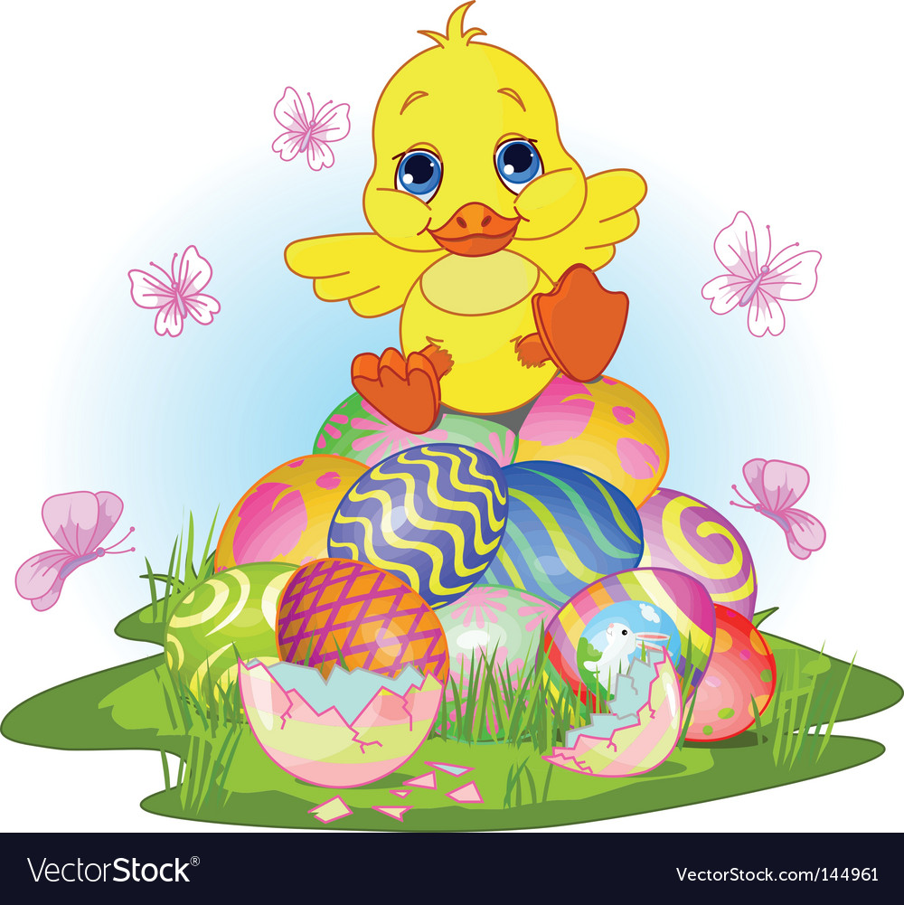 Easter duckling vector | Price: 3 Credit (USD $3)
