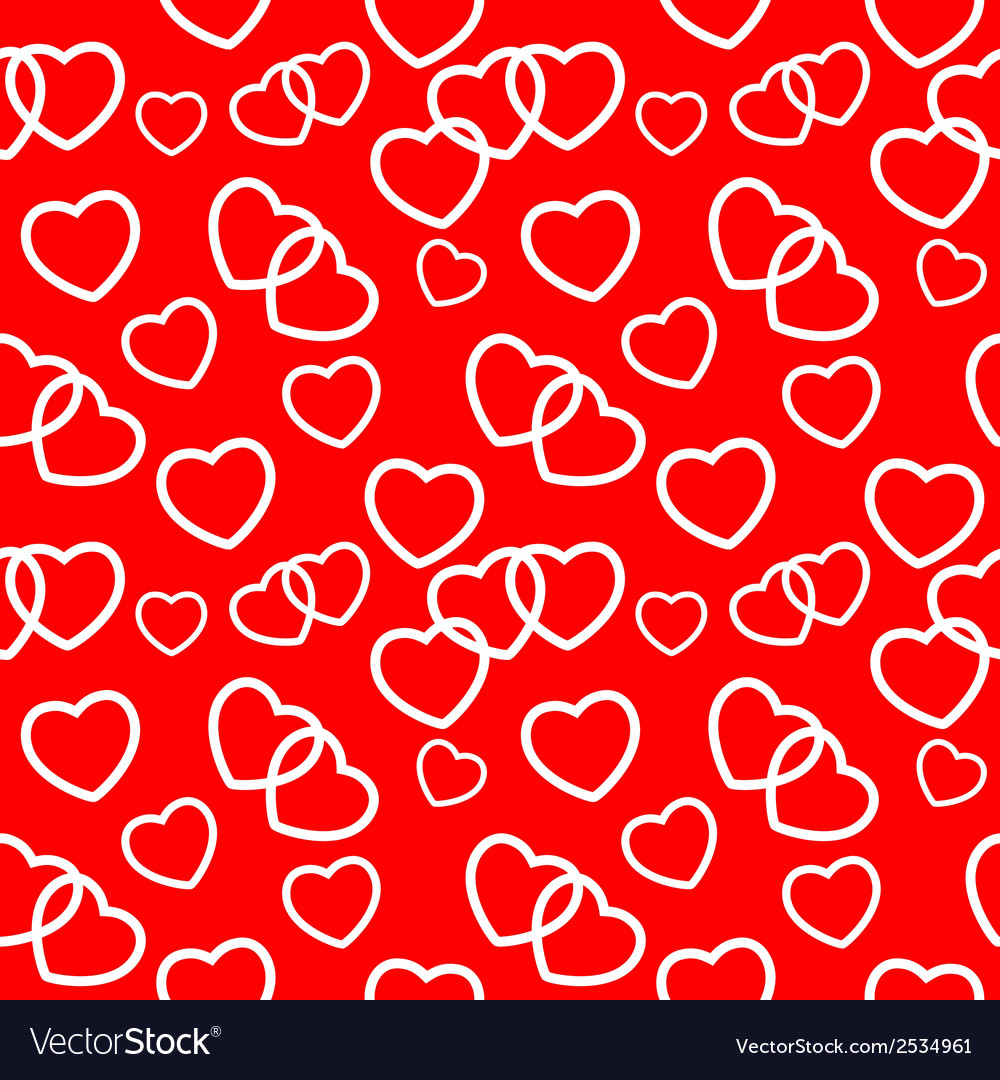 Heart love seamless pattern background vector | Price: 1 Credit (USD $1)