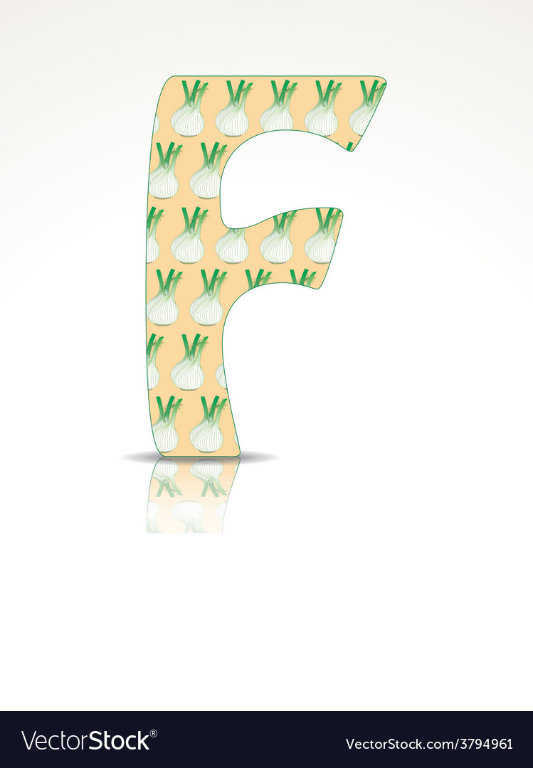 The letter f of the alphabet made of fennel vector | Price: 1 Credit (USD $1)