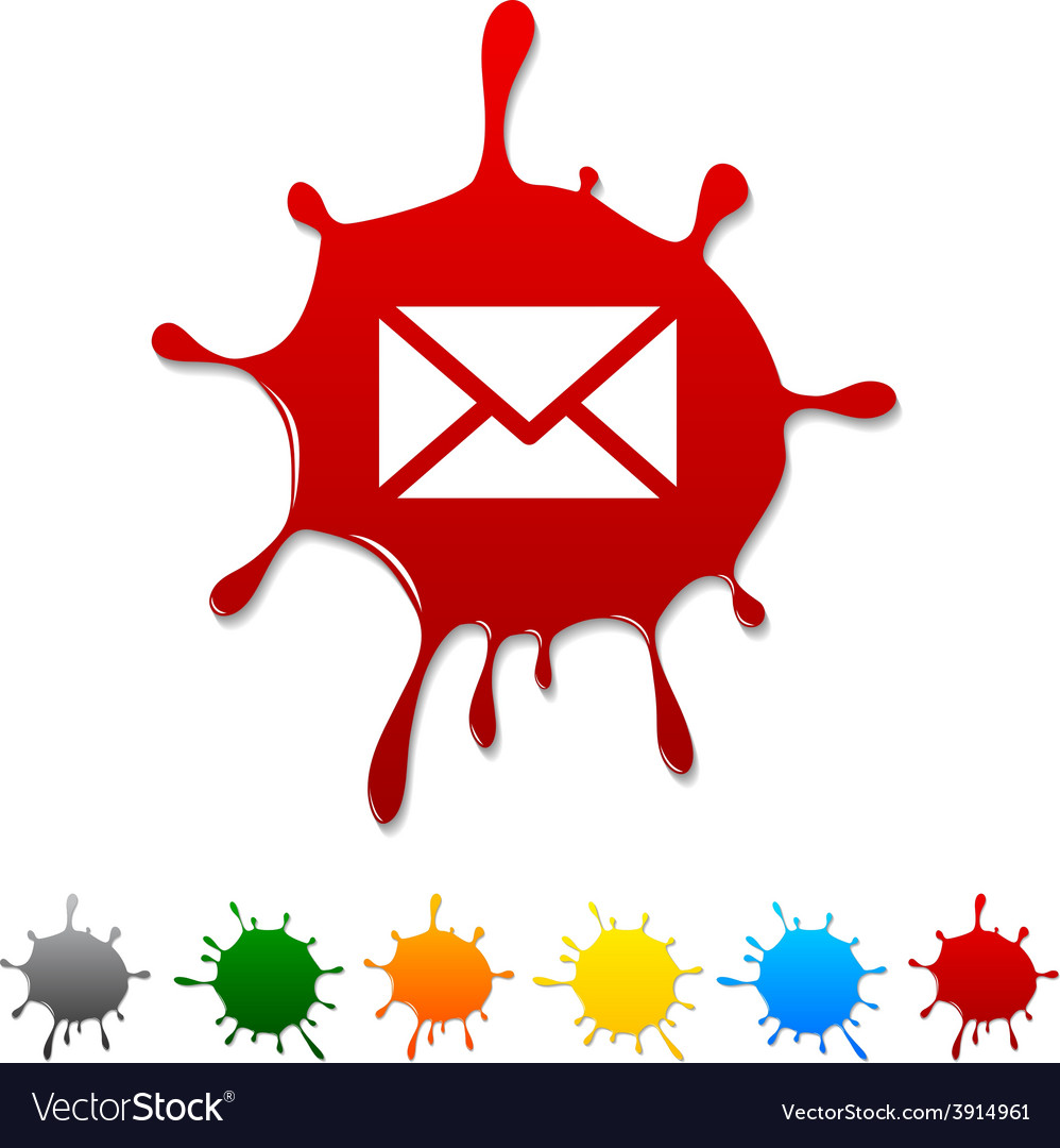 Mail blot vector | Price: 1 Credit (USD $1)