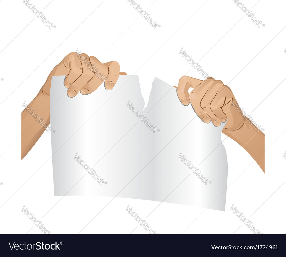 Man hands tear paper version 1 vector | Price: 1 Credit (USD $1)