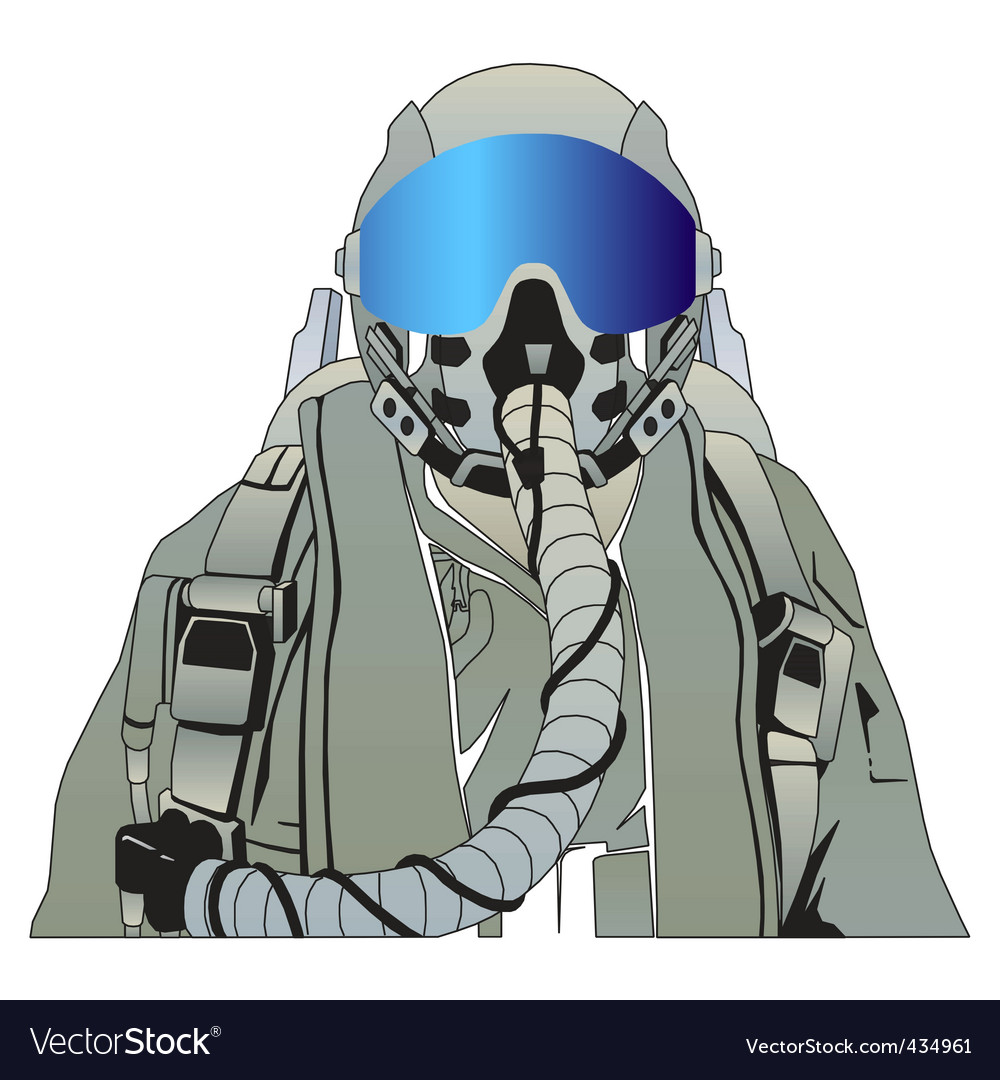 Military pilot vector | Price: 1 Credit (USD $1)