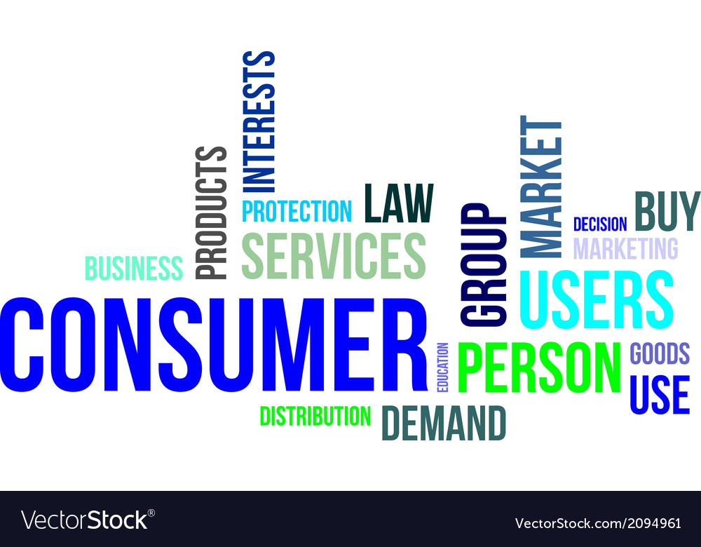 Word cloud consumer vector | Price: 1 Credit (USD $1)