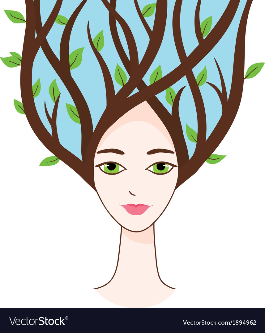 Beautiful woman of spring vector | Price: 1 Credit (USD $1)