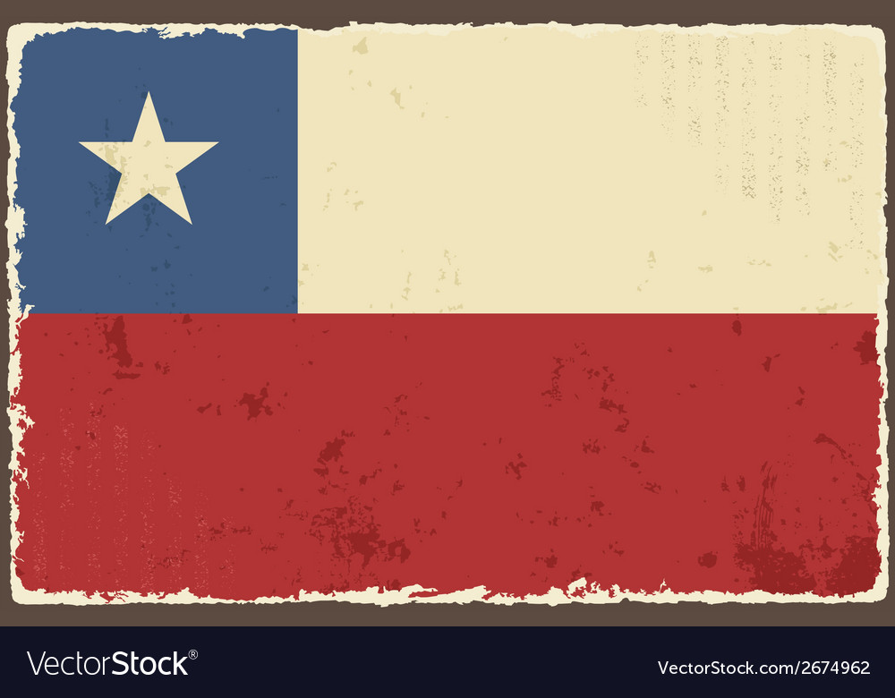 Chile grunge flag vector | Price: 1 Credit (USD $1)