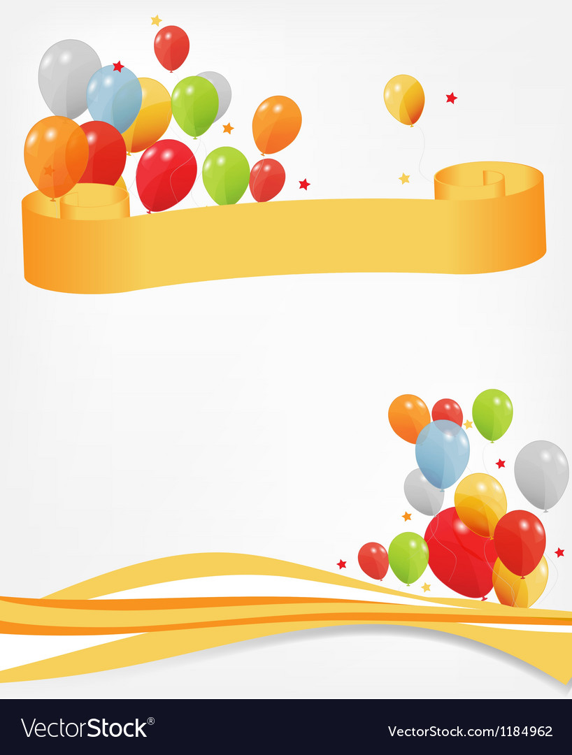 Colored ballons header and footer vector | Price: 1 Credit (USD $1)