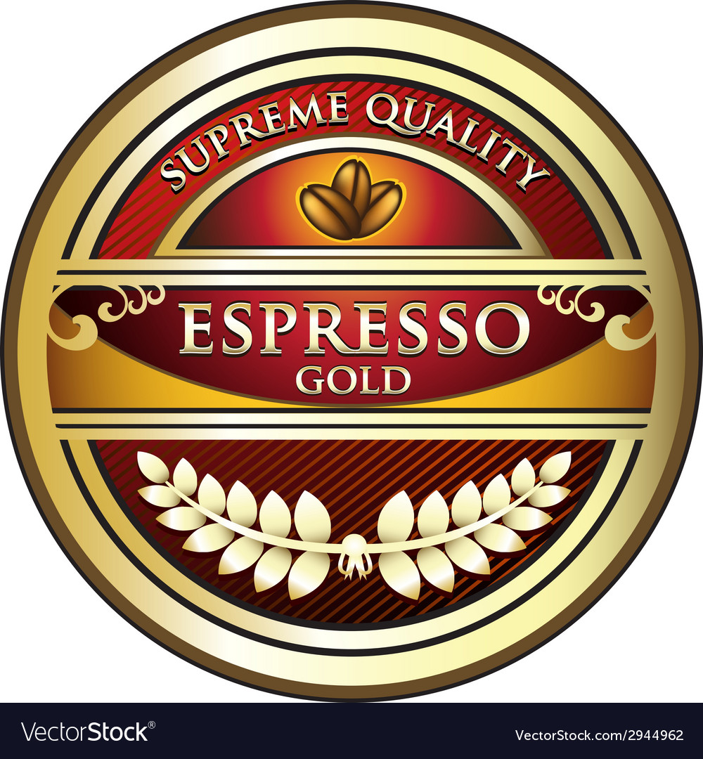 Espresso red label vector | Price: 1 Credit (USD $1)
