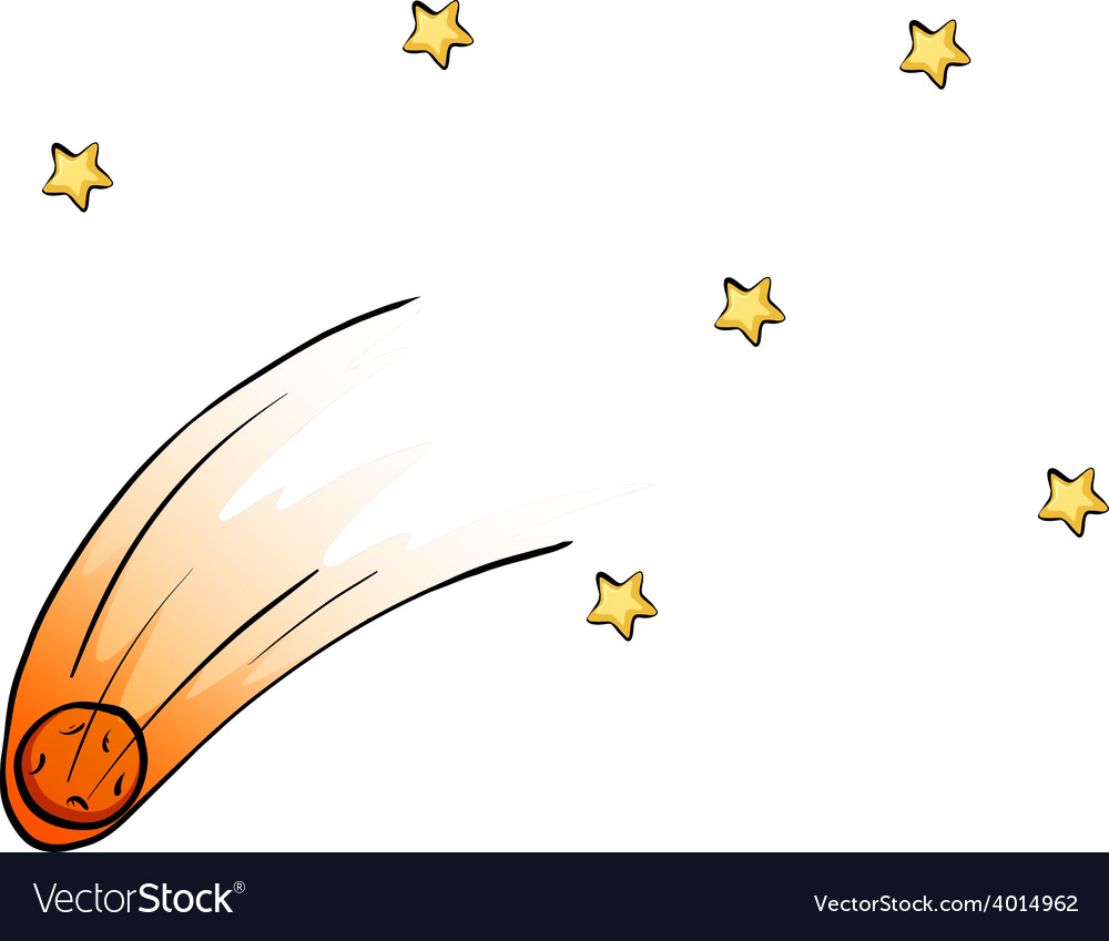 Falling stars from the sky vector | Price: 3 Credit (USD $3)