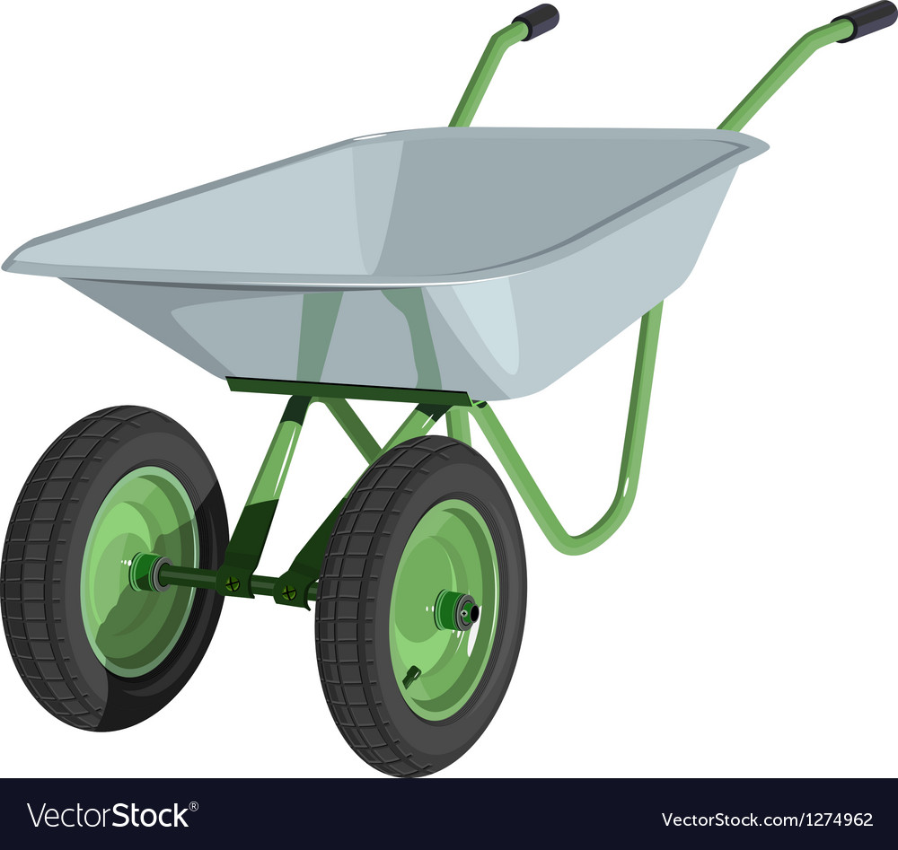 Metal wheelbarrow isolated vector | Price: 3 Credit (USD $3)