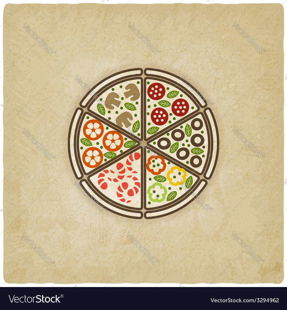 Pizza old background vector | Price: 1 Credit (USD $1)
