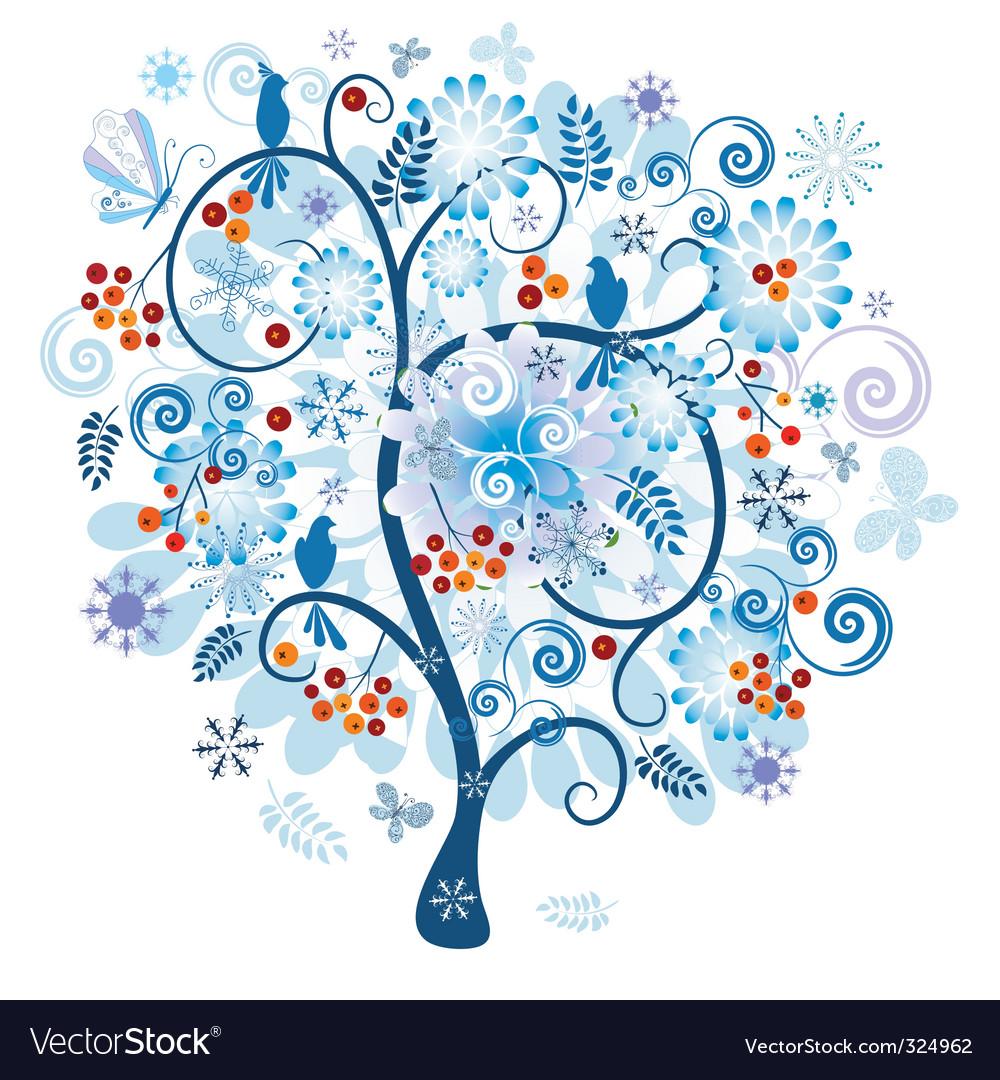 Winter decorative tree vector | Price: 1 Credit (USD $1)