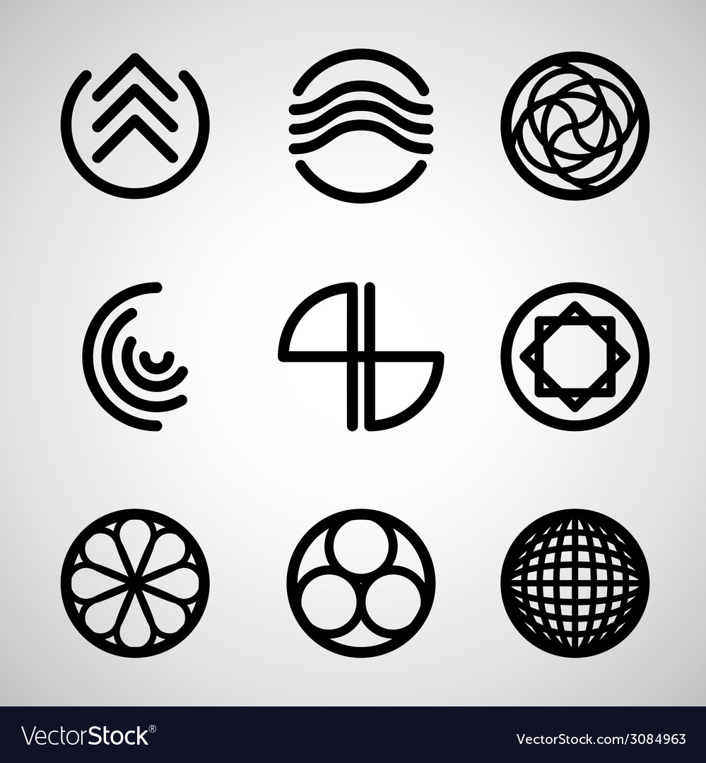Abstract symbols set 2 vector | Price: 1 Credit (USD $1)