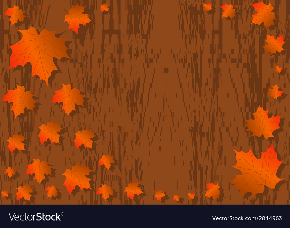 Autumn maple leaves background colorful maple vector | Price: 1 Credit (USD $1)