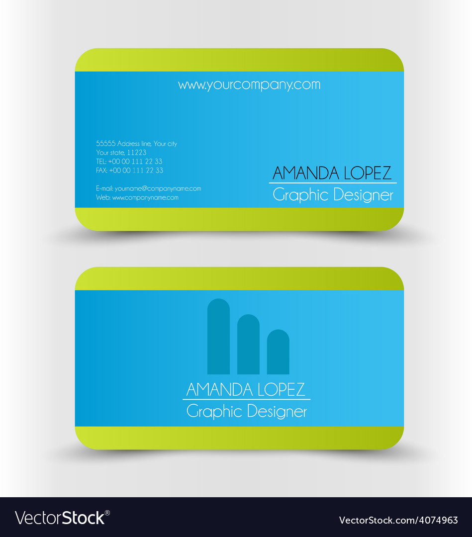 Business card design set template for company vector   Price: 1 Credit (USD $1)