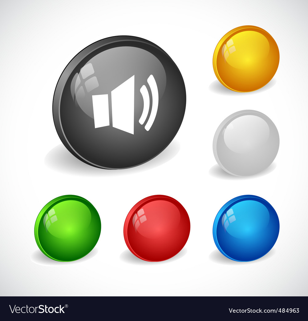Color 3d buttons for web vector | Price: 1 Credit (USD $1)