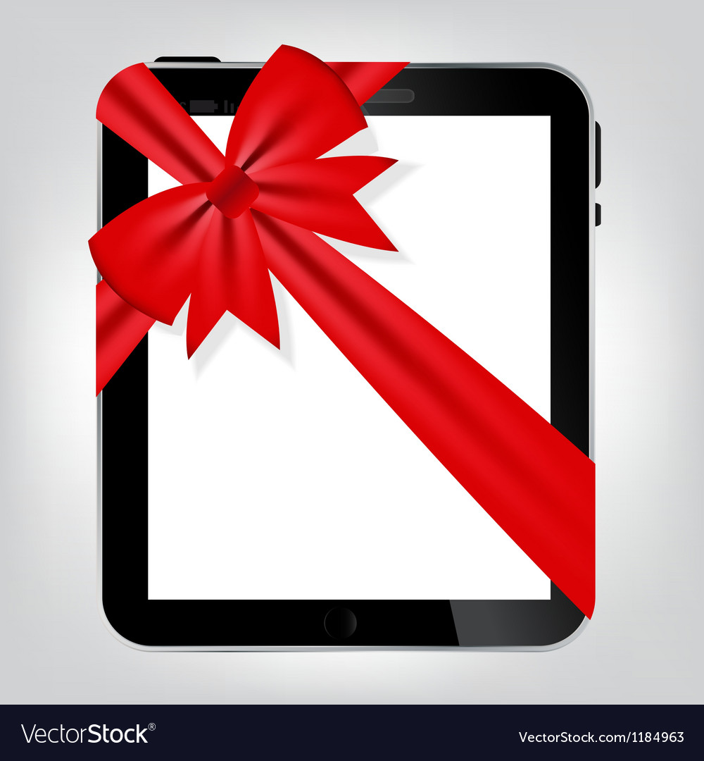 Digital tablet gift vector | Price: 1 Credit (USD $1)